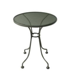 Streckmetall - Tisch 60cm rund eisengrau, wetterfest -
