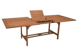 XXL - Ausziehtisch Cordoba 180/230x100cm aus Eukalyptusholz, FSC®-zertifiziert -