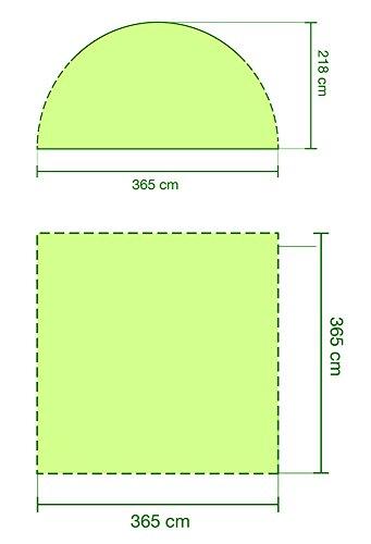 Coleman Event Shelter, grau, 360 x 360 cm, 2000009569 -